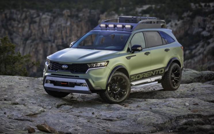 Kia Sorento X. SUV kustom yang agresif, merek yang menonjol, berfokus pada petualangan, keandalan dan kesiapan melibas segala lintasan.  - Kia Motor