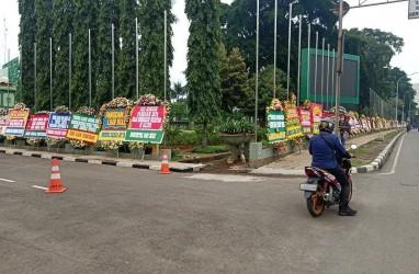 Markas Kodam Jaya Dipenuhi Karangan Bunga Dukungan untuk Pangdam