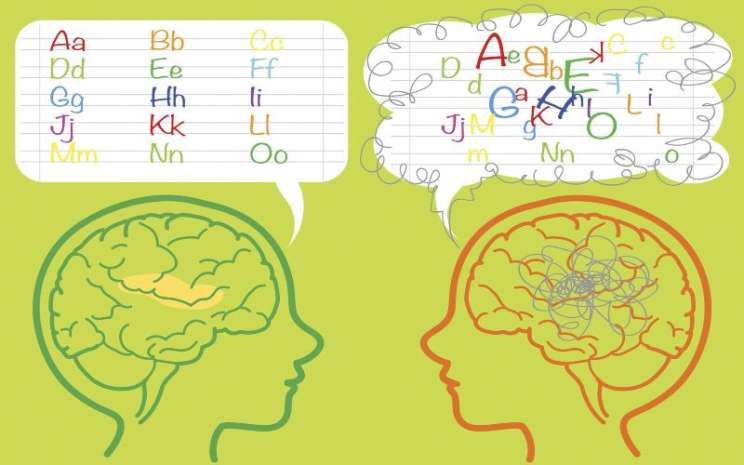 Disleksia. - ilustrasi