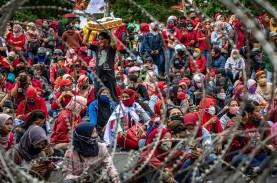MK Gelar Sidang Perdana Gugatan UU Cipta Kerja, KSPI…