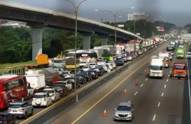 Ada Pekerjaan LRT, Sebagian Jalur Tol Jakarta-Cikampek Ditutup