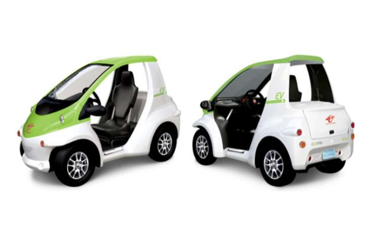 Toyota Coms digerakkan oleh motor listrik tunggal yang terletak di roda belakang.  - Toyota