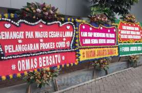 Kerumunan FPI: Belasan Karangan Bunga Dukung Wagub…