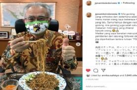 Dubes Jepang Pakai Masker Unik, Tulisannya Bikin Netizen…