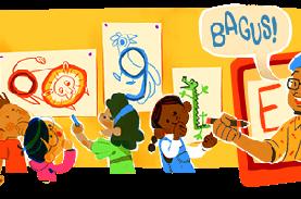 Google Doodle Tampilkan Pak Tino Sidin di Hari Guru…
