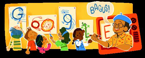 Google Doodle pak Tino Sidin di hari guru nasional 2020