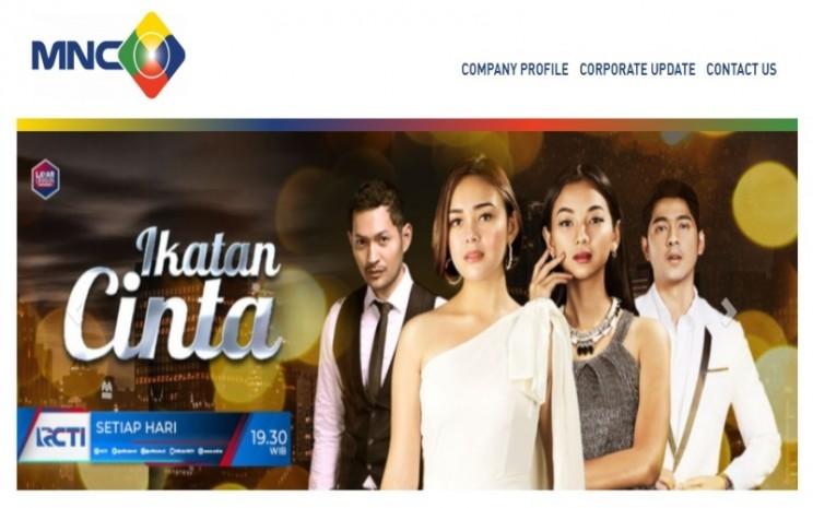 Halaman muka website PT Media Nusantara Citra Tbk. Performa Pangsa Pemirsa empat stasiun televisi yang dikelola MNCN moncer dengan torehan 46,5 persen di upper middle. - MNCN