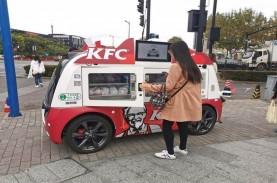 KFC di China Jualan Pakai Mobil Keliling Tanpa Supir,…