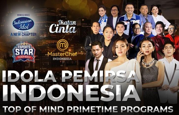 Program Indonesian Idol, sinetron Ikatan Cinta dan Masterchef telah menarik hati penonton televisi. - istimewa