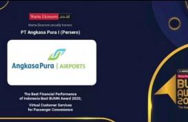 Angkasa Pura I Borong 2 Penghargaan pada Ajang Indonesia Best BUMN Award 2020