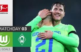 Hasil Bundesliga : Hujan Gol, Wolfsburg Tundukkan Werder Bremen 5–3