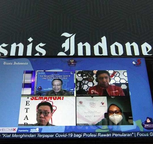 Bisnis Indonesia Gelar Webinar Bertema Kiat Menghidari Terpapar Covid-19  bagi Profesi Rawan Penularan