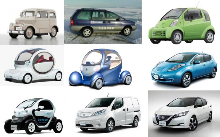 Model-model kendaraan listrik Nissan.  - Nissan
