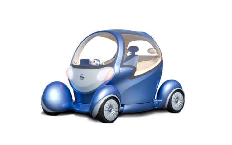 Nissan Pivo 2 menjaga suasana hati tetap ceria.  - Nissan