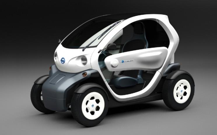Nissan New Mobility Concept adalah kendaraan listrik 100% yang sangat ringkas dan ramah pengguna tanpa emisi.  - Nissan
