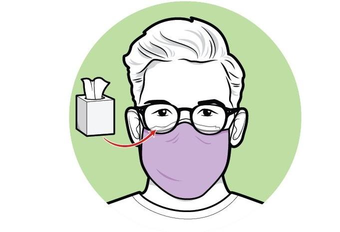Cara menghilangkan embun di kacamata saat menggunakan masker. - Scientific American
