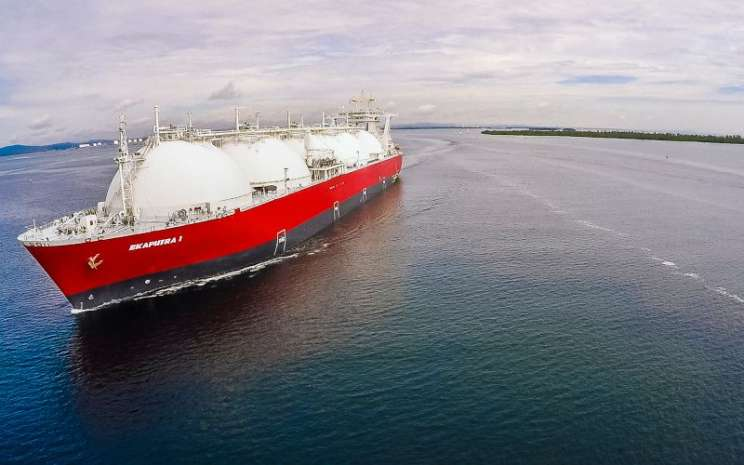 Kapal tanker gas Ekaputra 1. Pengangkutan gas merupakan salah satu lini usaha PT Humpuss Intermoda Transportasi Tbk. - hits.co.id