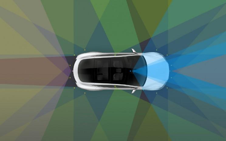 Autopilot Tesla dilengkapi 8 kamera memberikan visibilitas 360 derajat di sekitar mobil pada jarak hingga 250 meter.  - Tesla