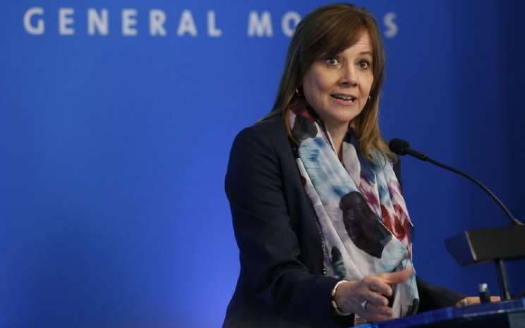 Chairman and CEO General Motors Mary Barra. GM sedang membangun pabrik seluas 3 juta kaki persegi untuk itu yang terletak berdekatan dengan bekas pabrik perakitan mobil GM dekat Lordstown, Ohio.  - REUTERS