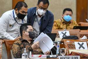 Menteri BUMN Erick Thohir Raker Dengan DPR Bahas Permasalahan Asuransi Jiwasraya