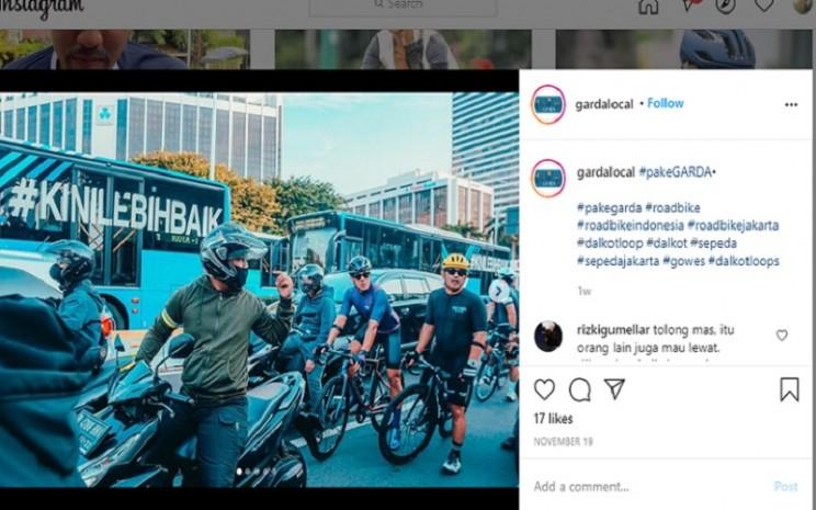 Jasa pengamanan pesepeda di Jakarta  -  Instagram @gardalocal