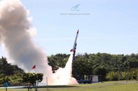 Lapan Sukses Terbangkan Uji Coba Roket RX450-5