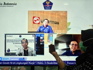 Satgas Covid-19 Bersama Bisnis Indonesia Gelar Webinar Membahas Kebijakan Manajemen di Masa Pandemi