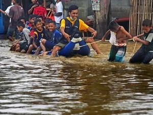 Banjir Rendam Kawasan Cilegon Banten