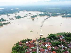 Banjir Putus Jalur Penghubung Kabupaten Banyumas-Purbalingga
