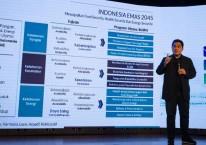 Menteri BUMN Erick Thohir menjadi pembicara dalam Milenial Fest 2020 di Djakarta Theatre, Jakarta, Sabtu (15/8/2020)./Antara - Dhemas Reviyanto.