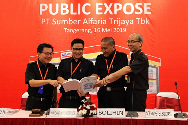 Rapat Umum Pemegang Saham (RUPS) Tahunan PT Sumber Alfaria Trijaya Tbk di Kantor Pusat Alfamart Tangerang, Kamis (16/05/2019). - Istimewa