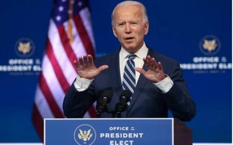 Presiden terpilih Amerika Serikat Joe Biden membahas UU Perlindungan kesehatan Affordable Care Act (Obamacare) dalam jumpa pers di Wilmington, Delaware, AS, 10 November 2020. - Antara/Reuters\\r\\n