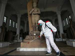 Museum Nasional Jakarta Disemprot Cairan Disinfektan