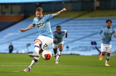 Hasil Liga Inggris : ManCity Hajar Fulham, Terobos 4 Besar