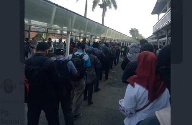 Hujan Guyur Sejumlah Stasiun KA Tak Berdampak terhadap Pengguna KRL