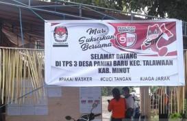Terapkan Prokes, Warga Sulawesi Utara Berduyun ke TPS