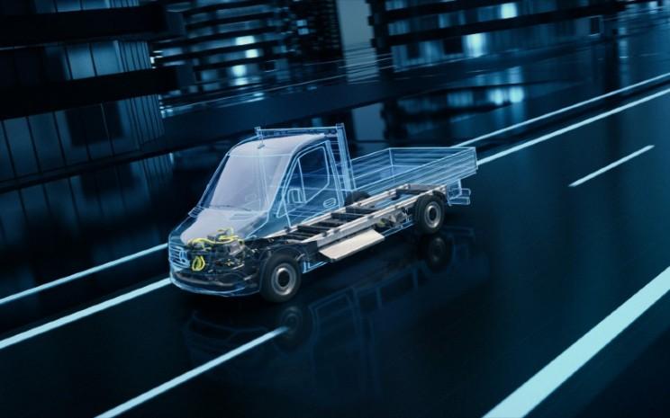 """Mercedes Benz eSprinter generasi berikutnya akan diproduksi dengan CO2 netral, dan menjadi langkah untuk mewujudkan """"Ambition 2039"""" Daimler.  - Mercedes Benz"""