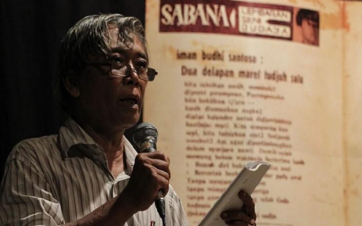 Sastrawan Iman Budhi Santoso meninggal dunia. - ilustrasi