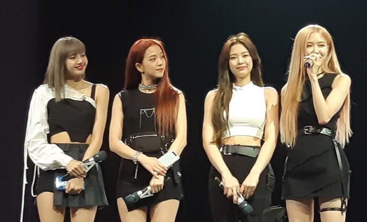 Grup musik asal Korea Selatan Blackpink dalam acara Samsung A Galaxy Event di Bangkok, Thailand pada Rabu (11/4/2019). - Bisnis/Ropesta Sitorus