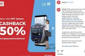 Naik MRT Cashback 50 Persen Pakai LinkAja