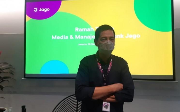 Direktur Utama Bank Jago, Kharim Indra Gupta Siregar. - Bisnis/Rivki Maulana