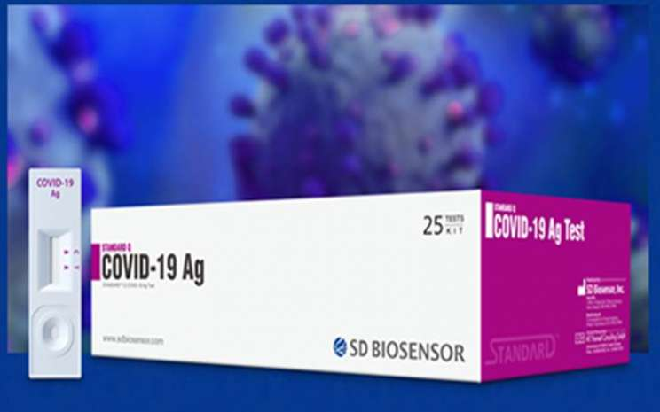 Rapid test antigen SD BioSensor. - ilustrasi