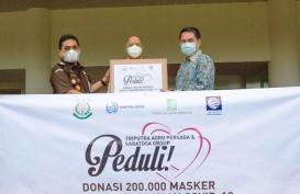Grup Triputra dan Saratoga Serahkan 200.000 Masker ke Kejaksaan Agung