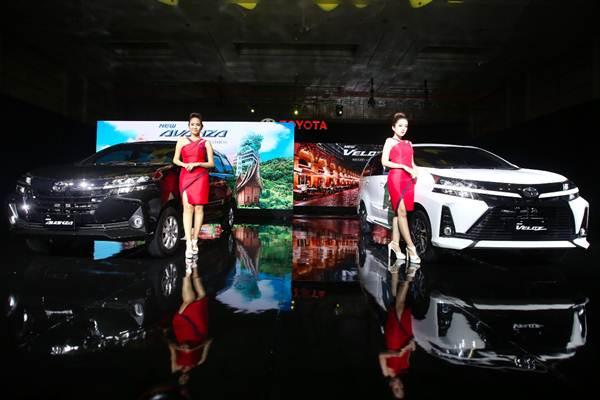 Model berpose saat peluncuran New Avanza dan New Veloz di Jakarta, Selasa (15/1/2019). - Bisnis/Abdullah Azzam