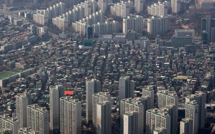Deretan apartemen di Seoul, Korea Selatan. - Bloomberg