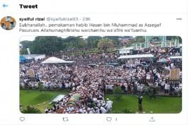 Ribuan Warga Penuhi Pemakaman Habib Hasan Assegaf, Ini Reaksi Netizen