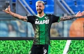 Pemain Sassuolo Francesco Caputo Striker Paling Efisien di Serie A