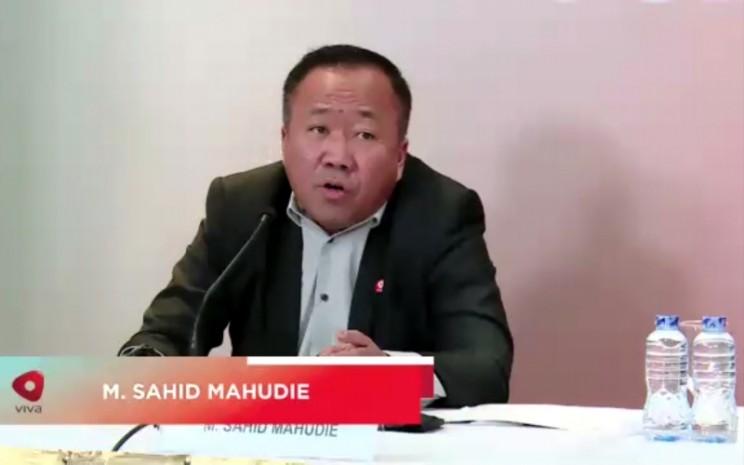 Direktur Visi Media Asia Sahid Mahudie dalam Paparan Publik VIVA, Rabu (30/12 - 2020).