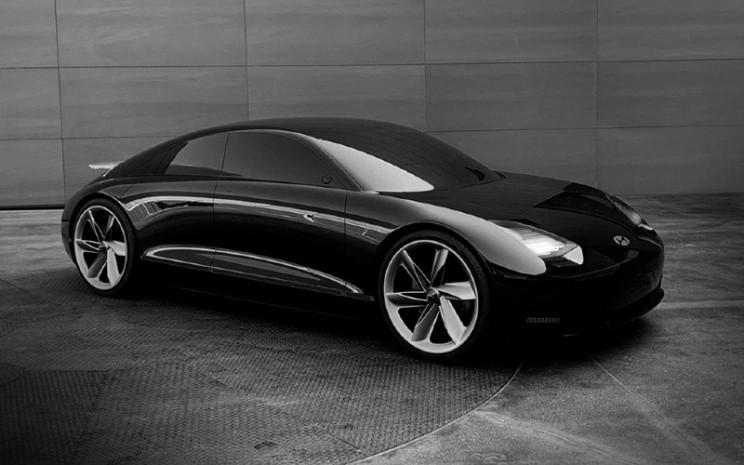 Prophecy, yang diluncurkan Maret lalu, adalah konsep visioner Hyundai yang menandakan arah gaya EV masa depan berdasarkan identitas desain Sensuous Sportiness.  - Hyundai