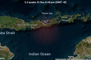 Gempa Bumi Bermagnitudo 5,3 Terjadi di Dekat Maumere
